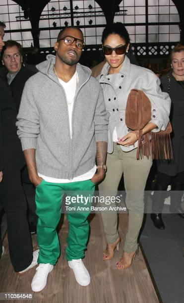 Singer Kanye West and Alexis Pfeiffer attend the Stella McCartney Fashion show during Paris Fashion Week FallWinter 20082009 at the Carreau du Temple...