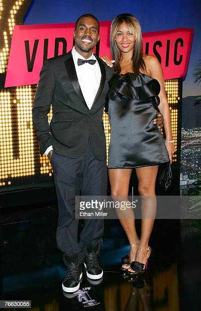 Singer Kanye West and Alexis Phifer arrive at the 2007 MTV Video Music Awards held at The Palms Hotel and Casino on September 9 2007 in Las Vegas...