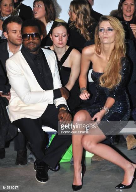 Singer Kanye West and US Actress Mischa Barton attend the Elie Saab fashion show during Paris Fashion Week Menswear Autumn/Winter 2009 at Palais de...