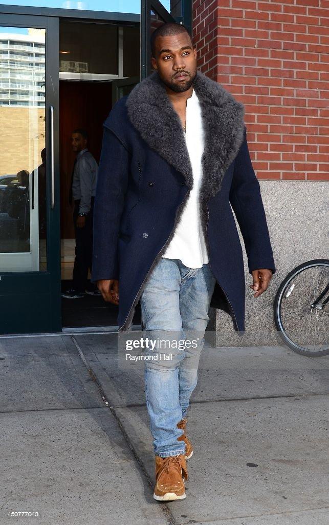 Singer Kanye West is seen in Soho on November 20, 2013 in New York City.