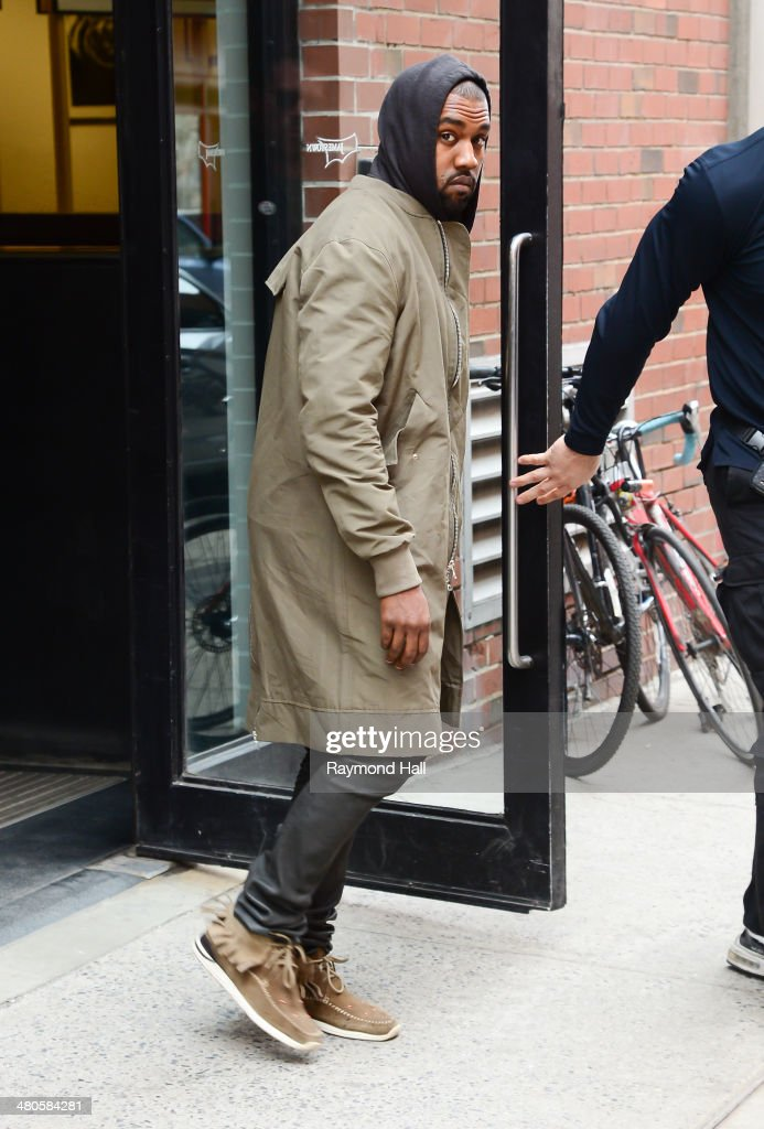 Singer Kanye West is seen in Tribeca on March 25, 2014 in New York City.