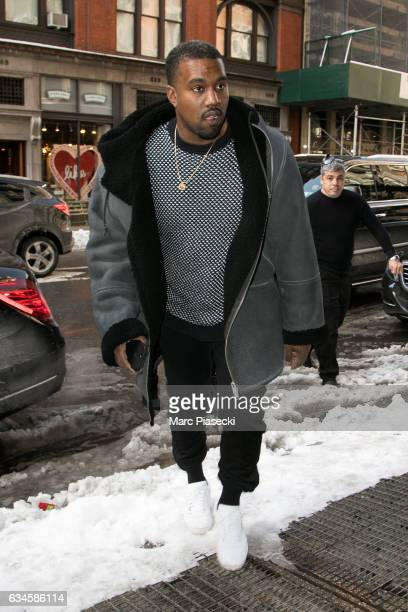 Singer Kanye West is seen on February 10 2017 in New York City