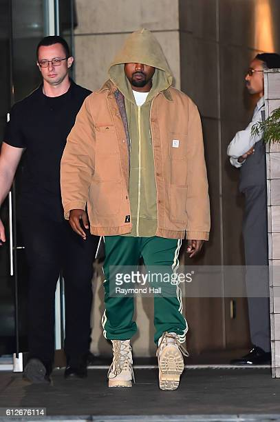 Singer Kanye West is seen walking in Soho on October 4 2016 in New York City
