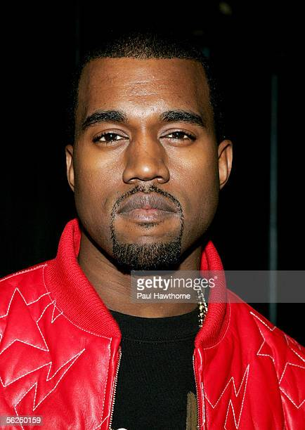 Singer Kanye West makes an appearance on MTV's Total Request Live November 21 2005 in New York City