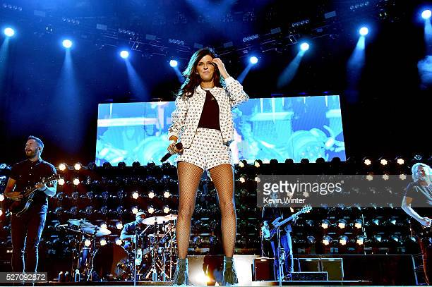 Singer Karen Fairchild of Little Big Town performs onstage during 2016 Stagecoach California's Country Music Festival at Empire Polo Club on May 01...