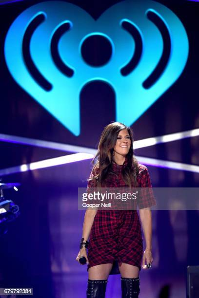 Singer Karen Fairchild of Little Big Town performs onstage during the 2017 iHeartCountry Festival A Music Experience by ATT at The Frank Erwin Center...