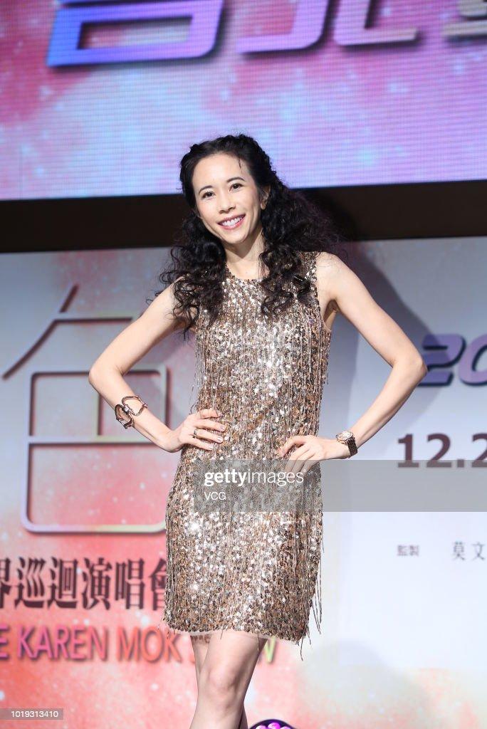 Karen Mok Attends 'The Ultimate Karen Mok Show' Taipei Press Conference