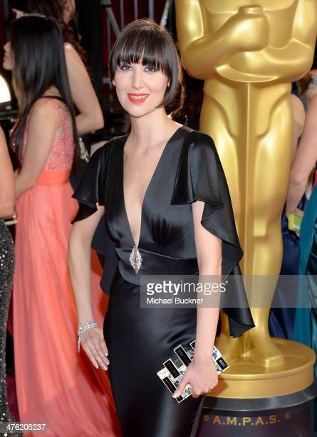 Singer Karen O attends the Oscars held at Hollywood Highland Center on March 2 2014 in Hollywood California