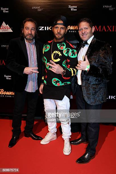Singer Karl Wolf and guests attend the 2016 NBA AllStar Weekend Maxim Party at Muzik on February 12 2016 in Toronto Canada