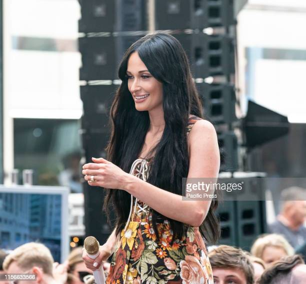 Singer Kasey Musgraves performs on NBC TODAY SHOW at Rockefeller Plaza