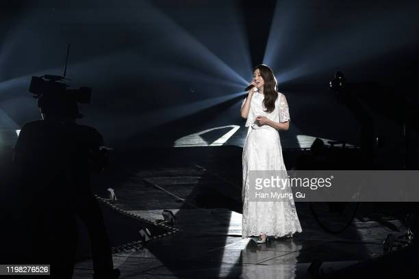 Singer Kassy performs on stage during the 9th Gaon Chart K-Pop Awards on January 08, 2020 in Seoul, South Korea.