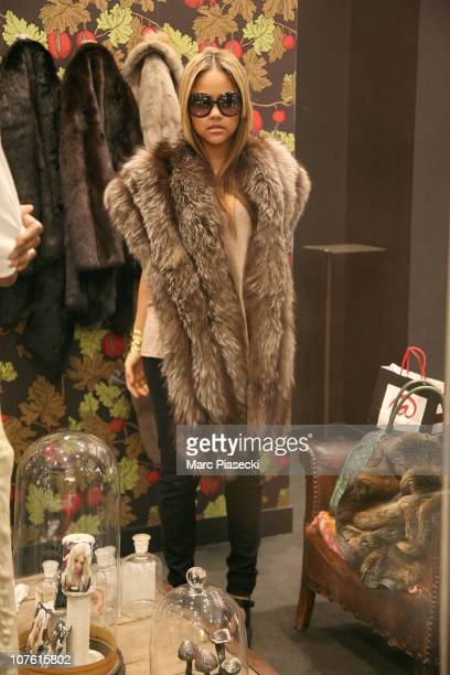 Singer Kat DeLuna sighting in 'LE 66' Mall on the Champs-Elysees avenue on December 15, 2010 in Paris, France.
