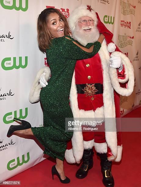 Singer Kat Graham and Santa attend 2015 Hollywood Christmas Parade on November 29 2015 in Hollywood California
