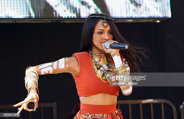 Singer Kat Graham performs onstage at Variety's Power of Youth presented by Cartoon Network held at Paramount Studios on September 15 2012 in...
