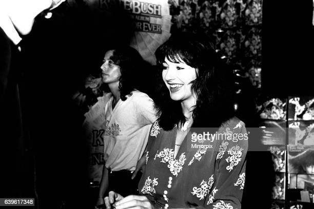 Singer Kate Bush at Virgin Records in Eldon Square Newcastle signing autographs on the 10th September 1980