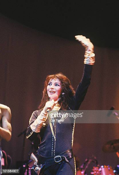 Singer Kate Bush performs on stage in 1979