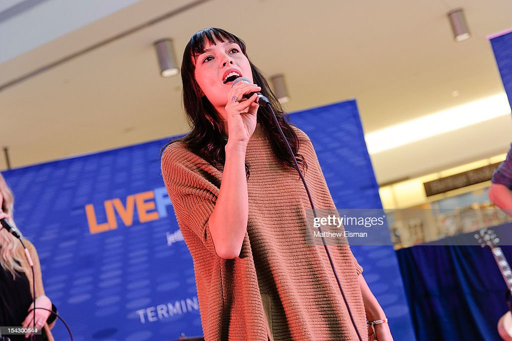 Singer Kate Earl performs for the CMJ Music Marathon at JetBlue's 'Live From T5 Concert Series' in John F. Kennedy International Airport on October 17, 2012 in New York City.