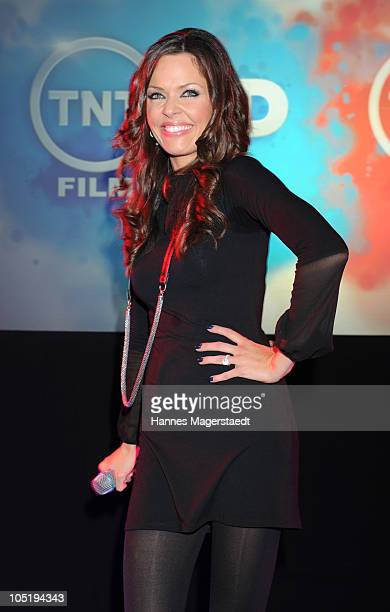 Singer Kate Hall performs during 'The Art of Television' TV Launch of TNT Film HD and TNT Serie HD at Galerie Thomas Modern on October 11 2010 in...