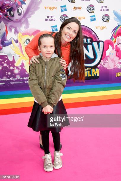 Singer Kate Hall with her daughter Kate Hall and her daughter Ayana Haley Hall-Soost attend the 'My little Pony' Premiere at Zoo Palast on October 3,...
