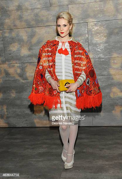 Singer Kate Nash attends the Libertine fashion show during MercedesBenz Fashion Week Fall 2015 at The Pavilion at Lincoln Center on February 16 2015...