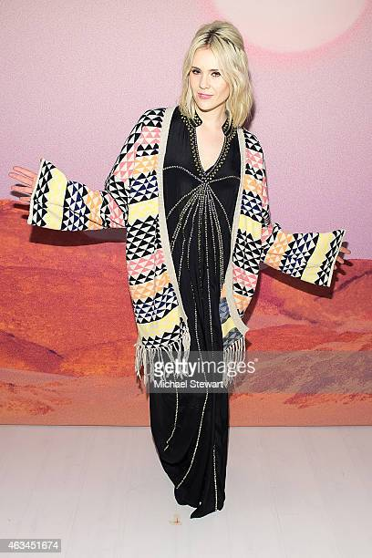 Singer Kate Nash attends the Mara Hoffman show during MercedesBenz Fashion Week Fall 2015 at The Salon at Lincoln Center on February 14 2015 in New...