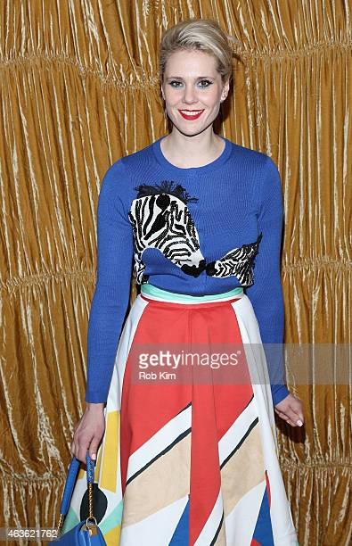 Singer Kate Nash backstage at the alice olivia by Stacey Bendet fashion show during MercedesBenz Fashion Week Fall 2015 on February 16 2015 in New...