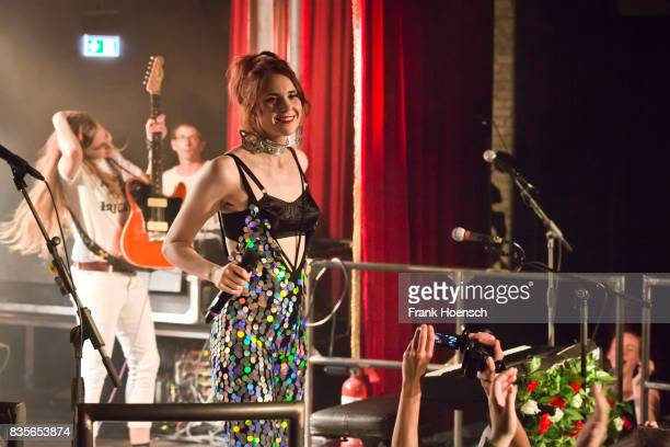 Singer Kate Nash performs live on stage during a concert at the Festsaal Kreuzberg on August 19 2017 in Berlin Germany