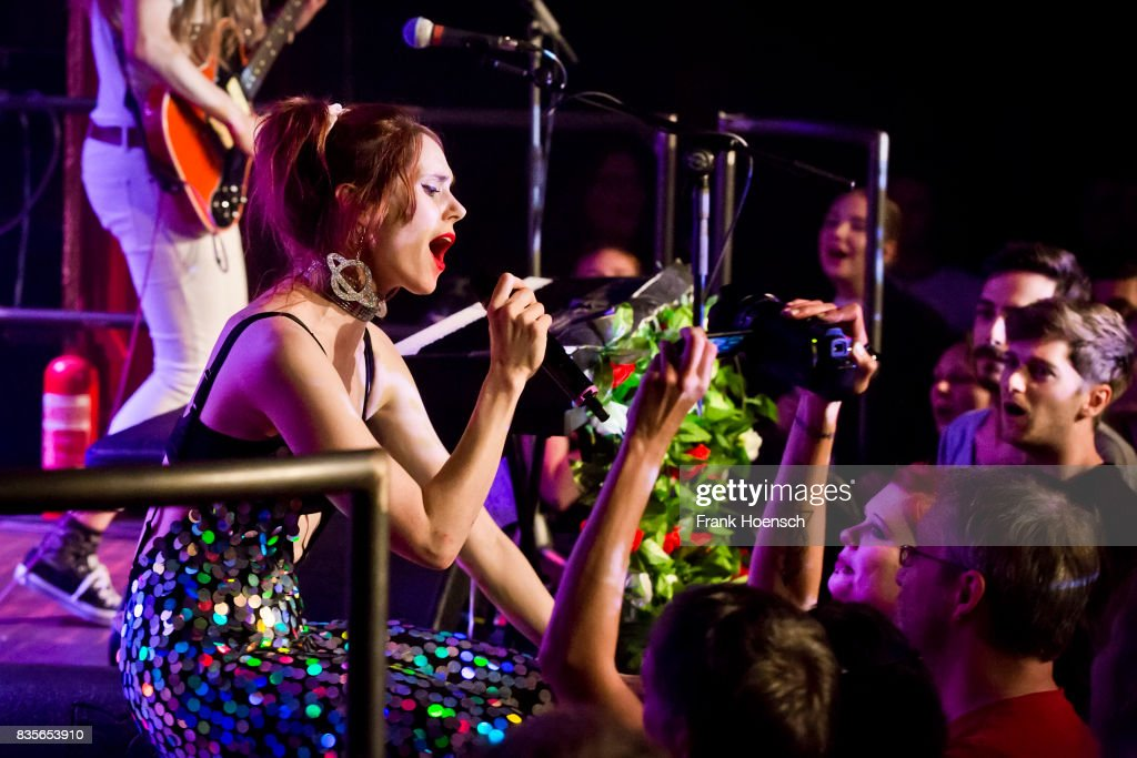 Singer Kate Nash performs live on stage during a concert at the Festsaal Kreuzberg on August 19, 2017 in Berlin, Germany.