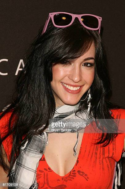 Singer Kate Voegele appears at the Verizon Wireless Communication Store to sign autographs on June 25 2008 in New York City