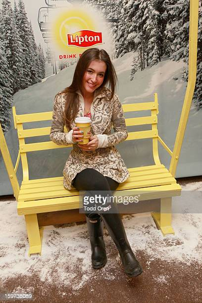 Singer Kate Voegele attends Day 2 of Sears Shop Your Way Digital Recharge Lounge on January 19 2013 in Park City Utah