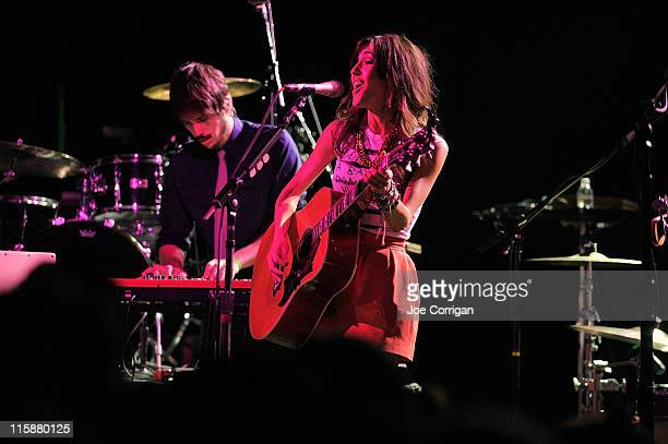 Singer Kate Voegele performs at Irving Plaza on June 10 2011 in New York City
