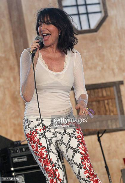 Singer Katey Sagal with The Forest Rangers performs onstage during 2013 Stagecoach California's Country Music Festival held at The Empire Polo Club...