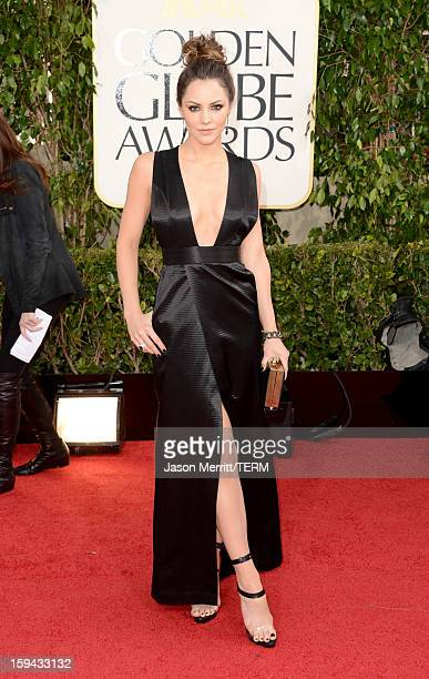 Singer Katharine McPhee arrives at the 70th Annual Golden Globe Awards held at The Beverly Hilton Hotel on January 13, 2013 in Beverly Hills,...