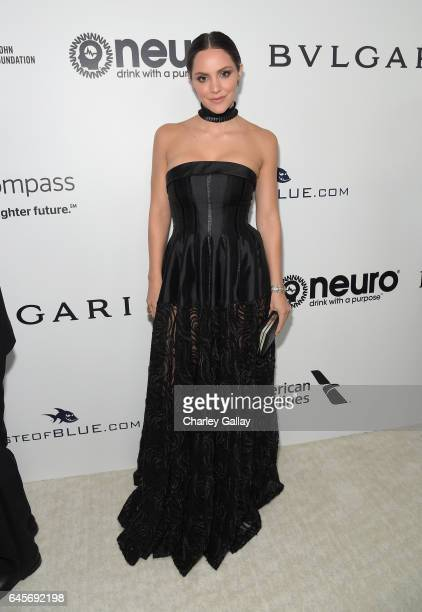 Singer Katharine McPhee attends the 25th Annual Elton John AIDS Foundation's Academy Awards Viewing Party with cocktails by Clase Azul Tequila and...