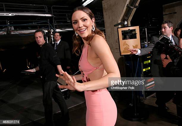Singer Katharine McPhee attends The 57th Annual GRAMMY Awards at STAPLES Center on February 8 2015 in Los Angeles California