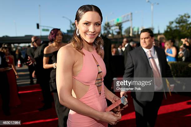Singer Katharine McPhee attends The 57th Annual GRAMMY Awards at the STAPLES Center on February 8 2015 in Los Angeles California