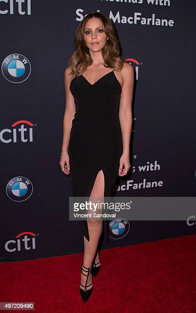 Singer Katharine McPhee attends The Grove Christmas with Seth MacFarlane at The Grove on November 14 2015 in Los Angeles California