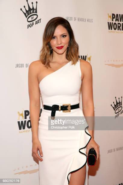Singer Katharine McPhee attends the James Paw 007 Ties Tails Gala at the Four Seasons Westlake Village on March 10 2018 in Westlake Village California
