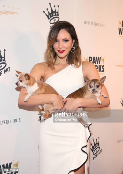 Singer Katharine McPhee Wilma and Larry attend the James Paw 007 Ties Tails Gala at the Four Seasons Westlake Village on March 10 2018 in Westlake...