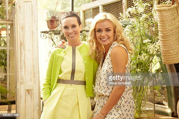 Singer Katherine Jenkins and lifestyle advisor Polly Noble are photographed for You magazine on May 13 2013 in London England