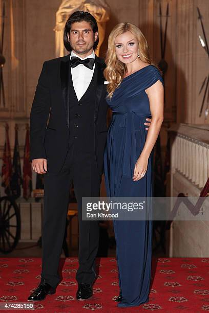 Singer Katherine Jenkins and partner Andrew Levitas attend a reception and dinner to mark the 25th anniversary of Tusk Trust at Windsor Castle on May...