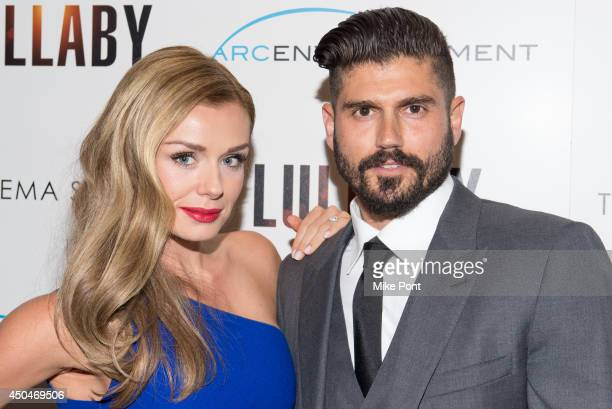 Singer Katherine Jenkins and Writer/Director Andrew Levitas attend the Arc Entertainment The Cinema Society screening of 'Lullaby' at Museum of...
