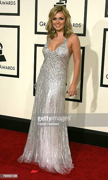 Singer Katherine Jenkins arrives at the 50th annual Grammy awards held at the Staples Center on February 10 2008 in Los Angeles California