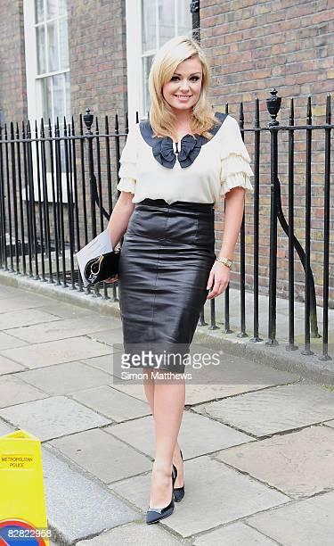 Singer Katherine Jenkins arrives to attend the Julien MacDonald fashion show during London Fashion Week Spring/Summer 2009 on September 15, 2008 in...