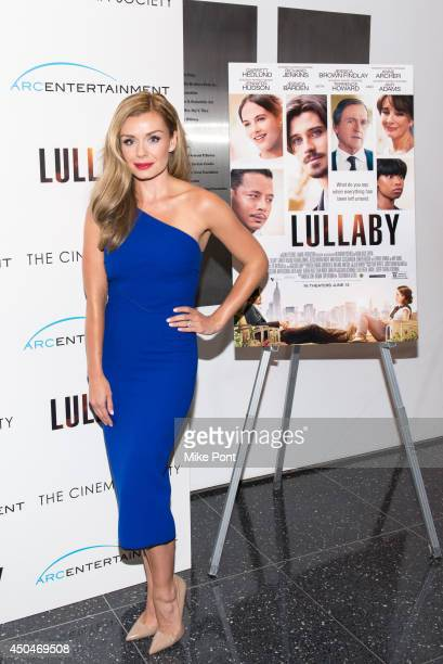 Singer Katherine Jenkins attends the Arc Entertainment The Cinema Society screening of 'Lullaby' at Museum of Modern Art on June 11 2014 in New York...