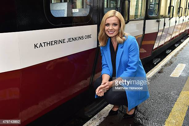 Singer Katherine Jenkins has a Snowdon Mountain Railway carriage named after her on July 6 2015 at the Snowdon Mountain Railway station in Llanberis...