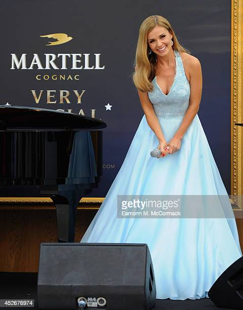 Singer Katherine Jenkins performs at A Martell Very Special Nights event at Belmond Le Manoir aux Quat'Saisons on July 25 2014 in Oxford England...