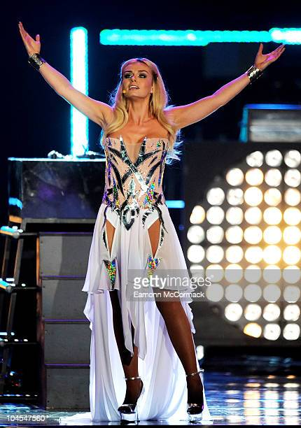 Singer Katherine Jenkins performs during Welcome To Wales at Millennium Stadium on September 29 2010 in Cardiff Wales