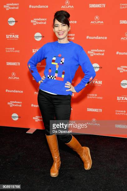Singer Kathleen Hanna attends the 'Bad Reputation' Premiere during the 2018 Sundance Film Festival at The Marc Theatre on January 22 2018 in Park...