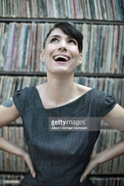 Singer Kathleen Hanna poses at a portrait session for Self Assignment in New York City New York on January 05 2011